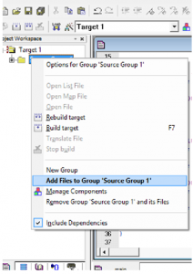Add Files to Source Group