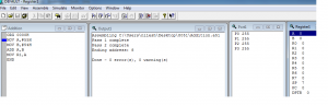 view the result of simulation in 8051 IDE