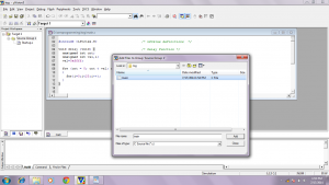 add the main.c in source group in KEIL uVISION3