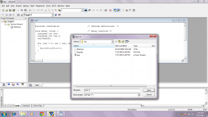 save the code with name main.c in harddisk