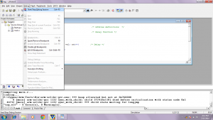 start a debug or simulation session in KEIL uVISION3
