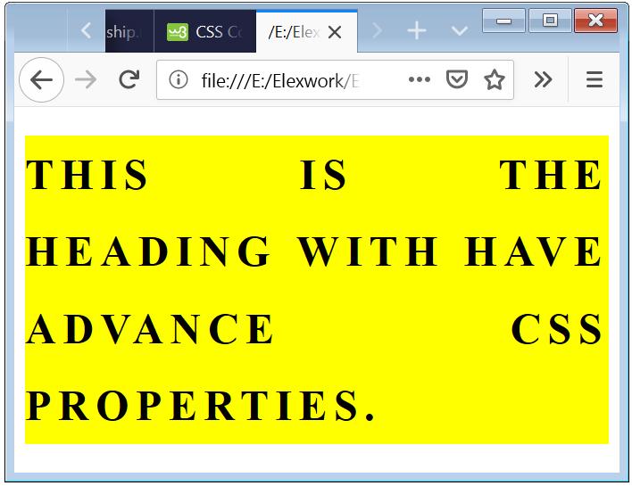 CSS Heading Styles