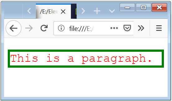 CSS p Style or Designing Paragraph Element