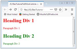 HTML Div Tag Div in HTML