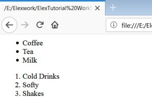 HTML List Tag HTML Types Of Lists