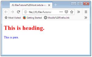 HTML class Attribute Screenshot