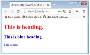 HTML class CSS Multiple Use Scrrenshot