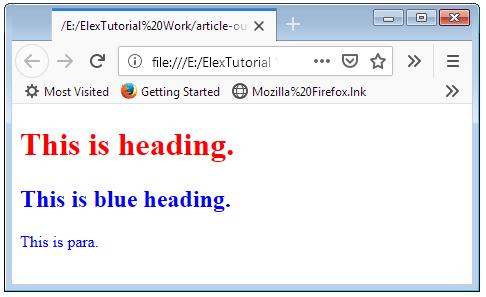 id Attribute Multiple Use Example