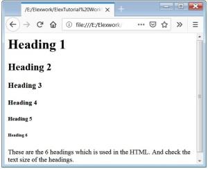 HTML h1 Tag HTML Heading-Tag