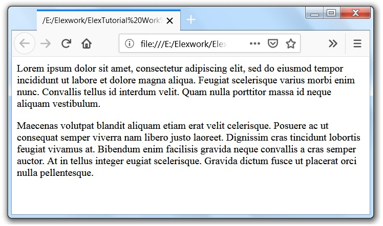 html paragraph or p html tag