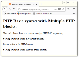 Basic Syntax of PHP
