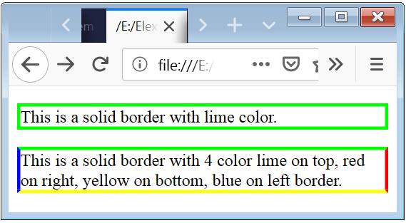 Border Color Example