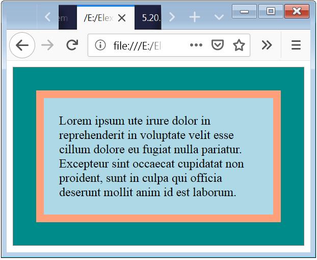 CSS Box Model Example