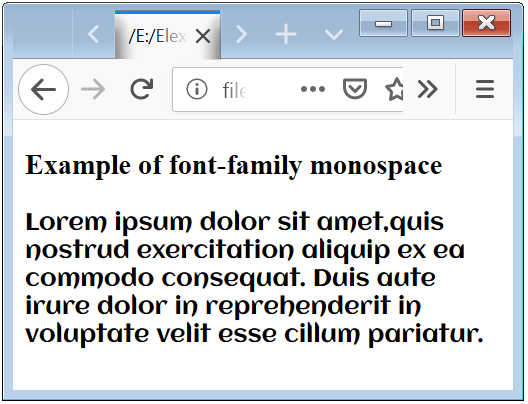 CSS Font Face