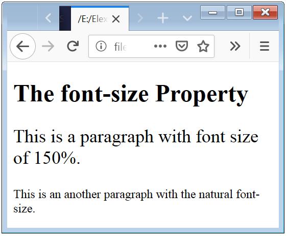 CSS Font Size Percent