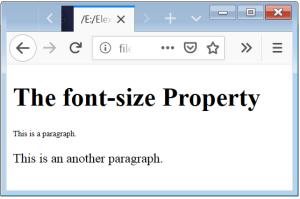 CSS Font Size CSS Font Size Property