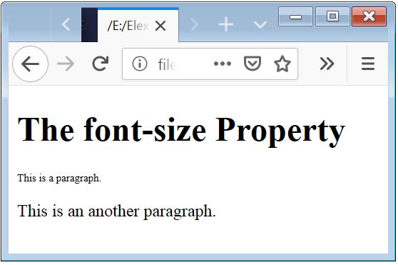 Font Size Basic Example