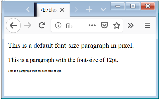 CSS Font Size CSS Font Size Responsive
