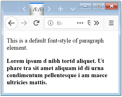 CSS Font Weight Property Example to Show Text in Bold or Strong Style