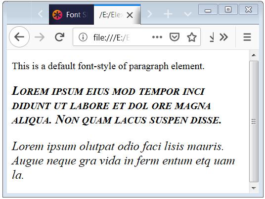 Fonts Property Basic Use Example Code