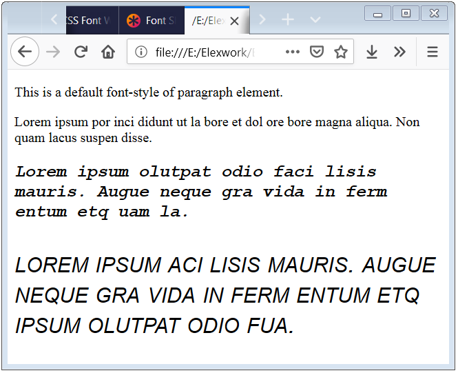 CSS Fonts Shorthand CSS Fonts