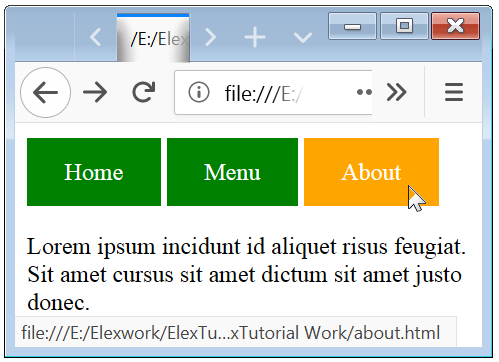 Styling Links Example