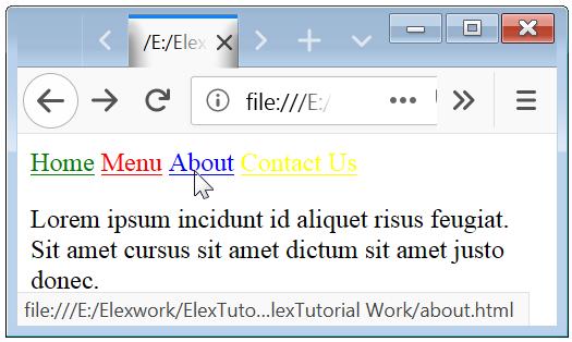 CSS Hyperlinks