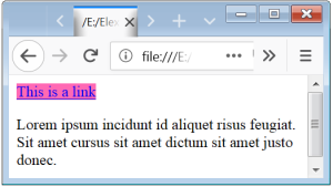 CSS Links CSS Styling Links