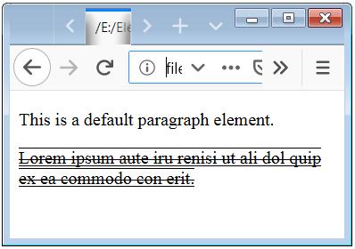 CSS Underline Text Decoration Line