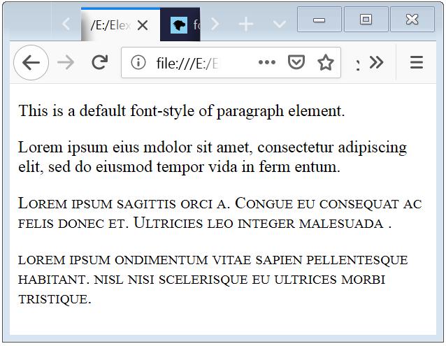 Font Variant CSS Font Variant
