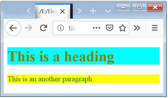Internal CSS in HTML Internal Style Sheet