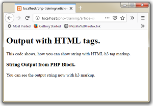 PHP Code in HTML