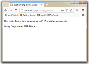 PHP Comment