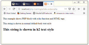 PHP echo Example