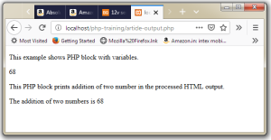 PHP echo Function