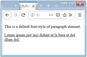Text Decoration Line