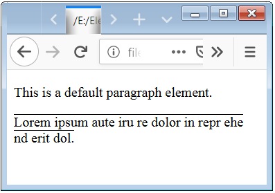 CSS Font Style Underline Example for a HTML Tag