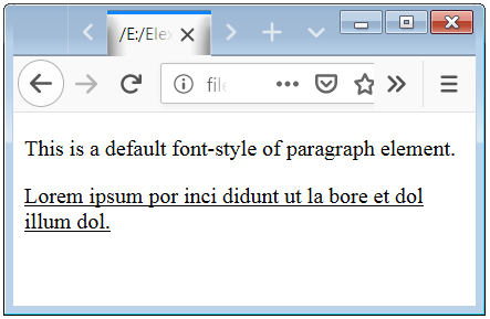 Text Decoration Line Property Example