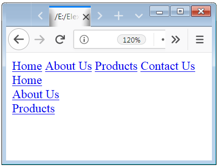CSS Display Property with Link CSS display inline Element