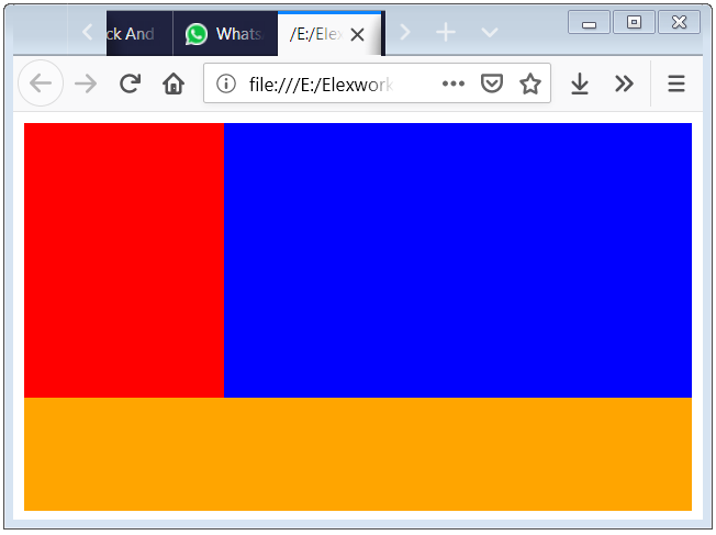 CSS float Property Example with CSS clear both