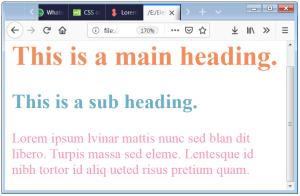 CSS Font Color CSS Text Color CSS Color Property