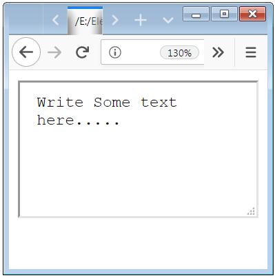 Textarea HTML Input tag design