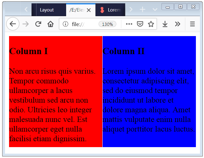 CSS Layout Examples