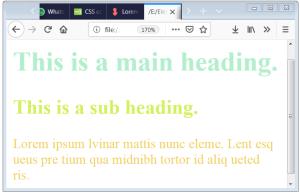 CSS Text Color CSS Font Color CSS Color Property
