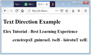 CSS Text Direction Text Direction HTML Text Direction