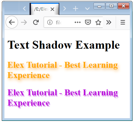 HTML Text Shadow with Glow and Blur Effects