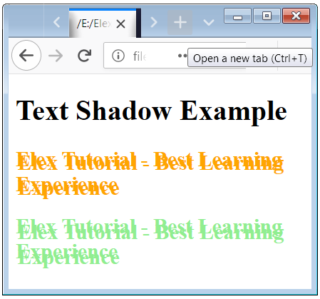 CSS Text Shadow Effect with h2 element