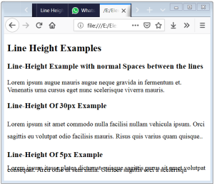 Line Height CSS Line Height In HTML