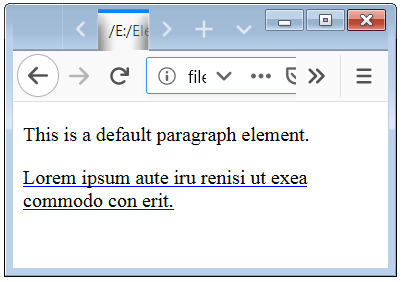 CSS Text Decoration Color Property Example with HTML p Tag