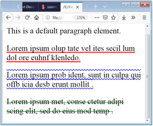 Text Decoration Style CSS Font Style Underline Text Decoration Style None